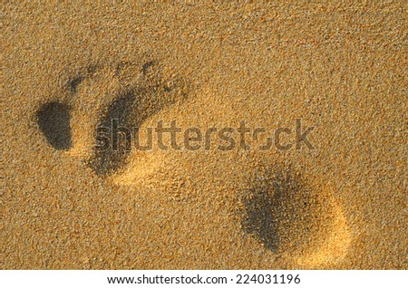 Sandy single footprint - stock photo