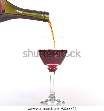 Sangria Pour - stock photo