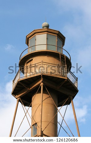 Sanibel Island Lighthouse in Florida - stock photo