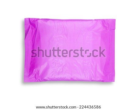 Sanitary towel isolated on white with shadow