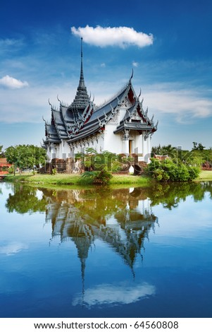 Sanphet Prasat Palace, Ancient City, Bangkok, Thailand - stock photo