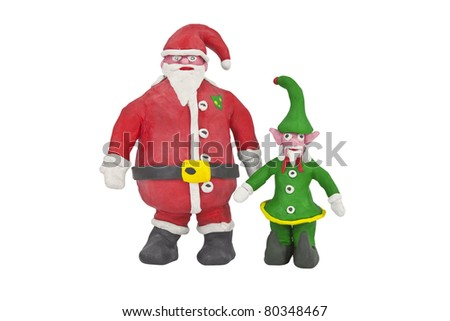 Santa and the senior Elf in charge of production.
