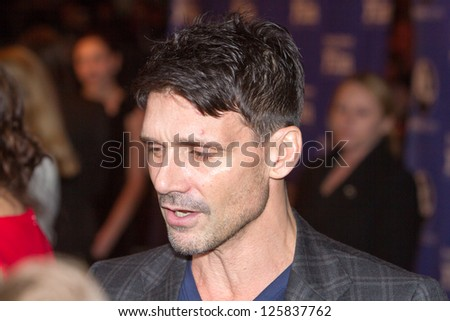 SANTA BARBARA, CA - JANUARY 24: Actor Frank Grillo (Mike in Disconnect) arrives at the opening of the 28th Santa Barbara International Film Festival in Santa Barbara, CA on January 24, 2013.