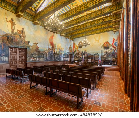 Santa barbara streets stock images royalty free images vectors shutterstock for Mural room santa barbara