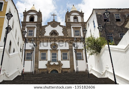 Santa Barbara Church at Pelourinho, Salvador da Bahia, Brazil - stock photo