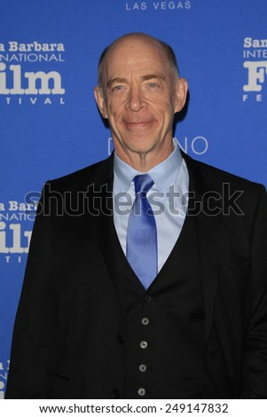 SANTA BARBARA - FEB 1: JK Simmons at the Virtuosos Award at the 30th Santa Barbara International Film Festival at the Arlington Theatre on February 1, 2015 in Santa Barbara, CA - stock photo