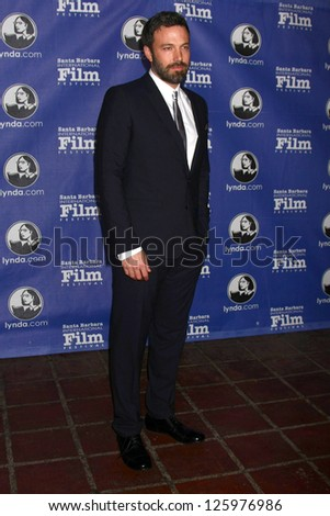 SANTA BARBARA - JAN 25:  Ben Affleck arrives at the 2013 SBIFF Modern Masters Award presented to Ben Affleck at Arlington Theater on January 25, 2013 in Santa Barbara, CA - stock photo