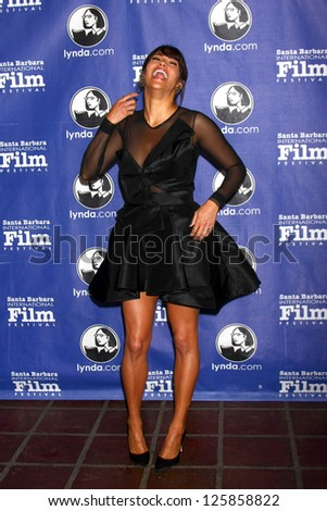 "SANTA BARBARA - JAN 24:  Paula Patton arrives at the Santa Barbara International Film Festival  ""Disconnect"" premiere at Arlington Theater on January 24, 2013 in Santa Barbara, CA"