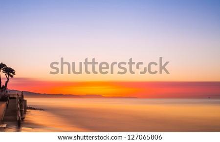 Santa Barbara sunrise long exposure - stock photo