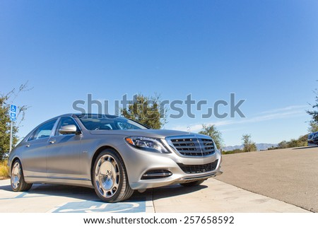 Santa Barbara, USA Jan 17, 2015 : Mercedes-Maybach S 600 2015 Test Drive on Jan 17 2015 in Hong Kong. - stock photo