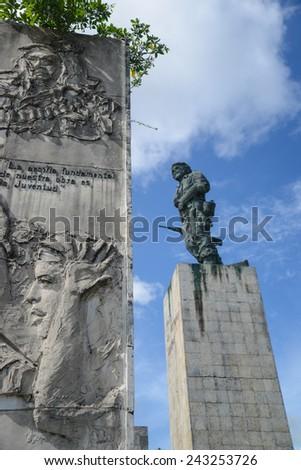 SANTA CLARA, CUBA - DECEMBER 14, 2014 The Che Guevara Mausoleum in Santa Clara, Cuba. It houses the remains of executed Marxist revolutionary Ernesto Che Guevara. - stock photo