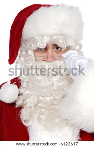 Santa Claus a over white background