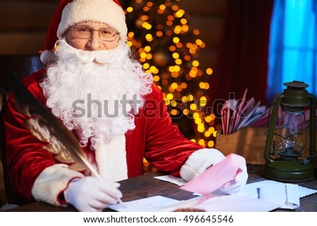 Santa Claus at work