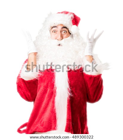 santa claus celebrating sign