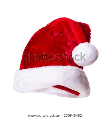 Santa Claus hat Isolated on white background