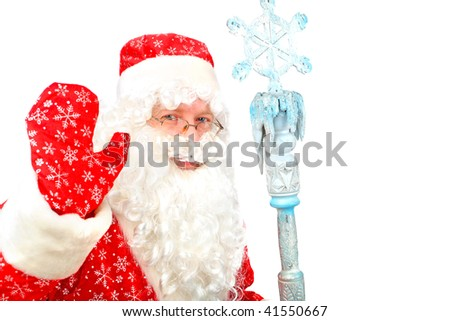 santa claus isolated on the white