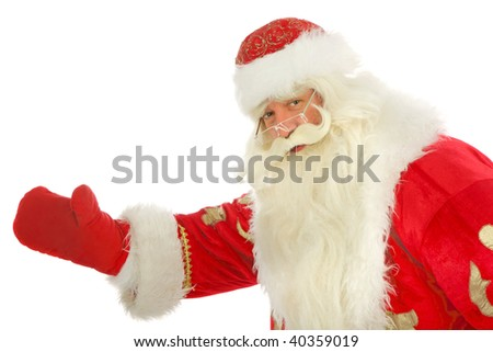 Santa Claus  . Isolated on white