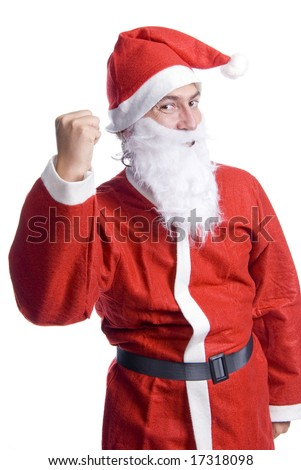santa claus isolated on white background - stock photo