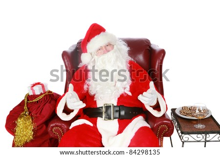 Santa Claus, isolated on white with room for your text
