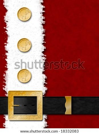 Santa Claus Jacket & Belt - stock photo