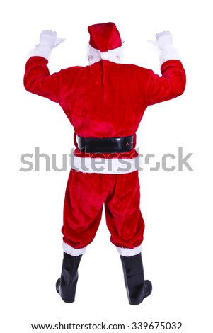 Santa Claus pointing hand - stock photo