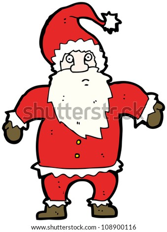 santa claus shrugging shoulders cartoon