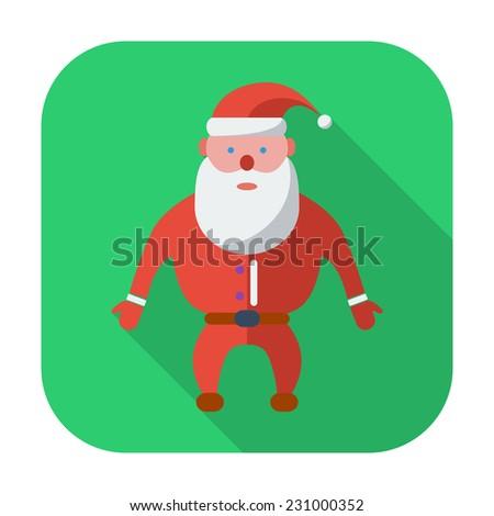 Santa Claus. Single flat icon on the button.  - stock photo