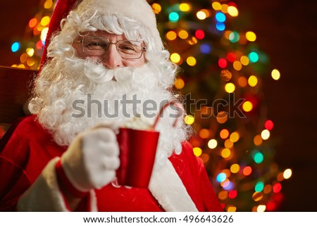 Santa Claus with drink