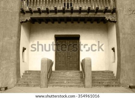 Santa Fe Entryway - stock photo