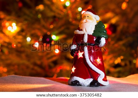 Santa figurine - stock photo