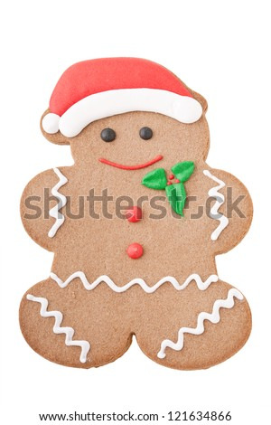 Santa Gingerbread Man isolated on white