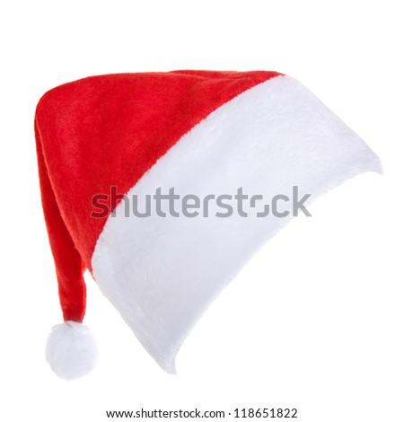 Santa Hat Isolated - stock photo