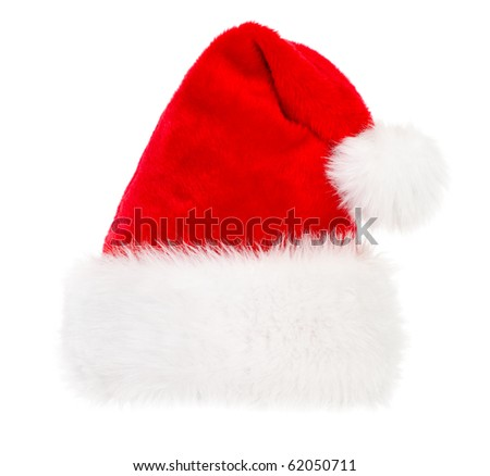 Santa hat  Isolated over white background
