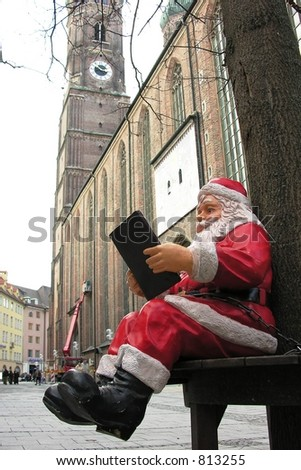 Santa into the circuits - stock photo