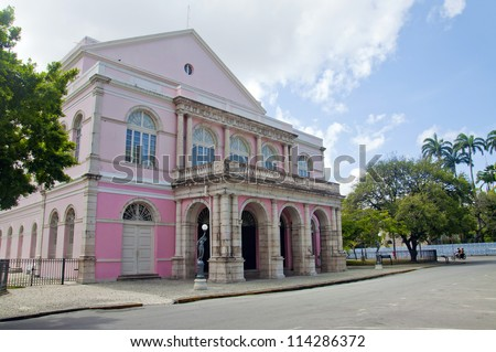 Santa Isabel theater - Recife - Pernambuco - Brazil - stock photo