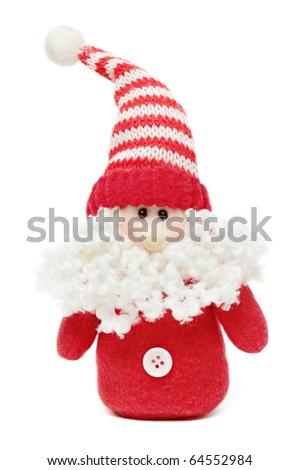 Santa isolated on a white background - stock photo