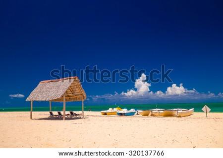 Santa Lucia beach, Camaguey Province, Cuba - stock photo