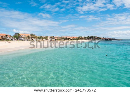 Santa Maria beach in Sal Cape Verde - Cabo Verde - stock photo