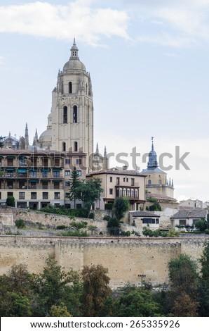Santa Maria cathedral in Segovia (Spain) - stock photo