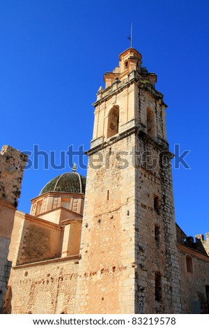 Santa Maria de la Valldigna Simat Monastery monument in Valencia Spain - stock photo