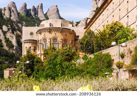 Santa Maria de Montserrat monastery. Catalonia - stock photo