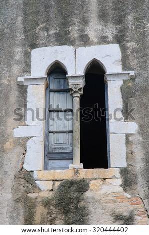 Santa Maria de Vilabertran is a famous monastery of XI century - stock photo