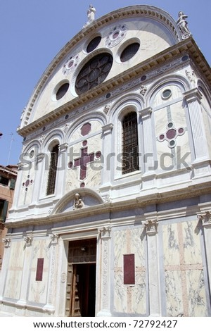 Santa Maria dei Miracoli in Venice in Italy - stock photo
