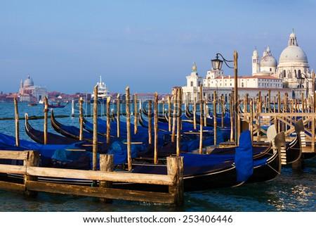 Santa Maria della Salute. Venice. Italy. - stock photo