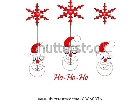 Santa Mobiles - stock photo