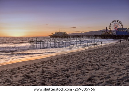 santa monica beach, Los Angeles, California