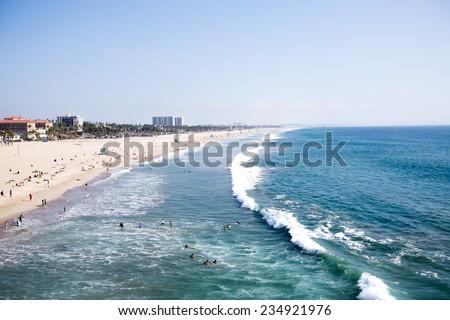 Santa Monica beach, Los Angeles, California, USA - stock photo