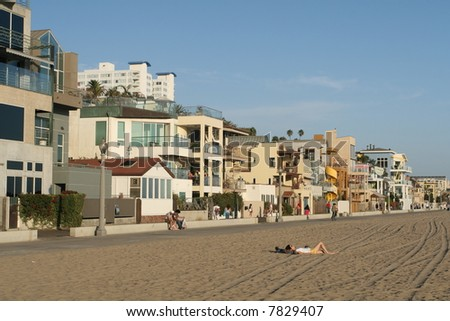 Santa Monica Boardwalk - stock photo