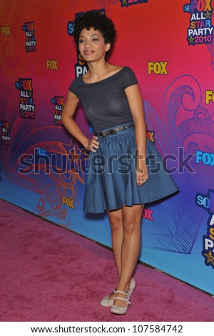 "SANTA MONICA, CA - AUGUST 2, 2010: Jasika Nicole - star of ""Fringe"" - at Fox TV's All Star Party at Santa Monica Pier."