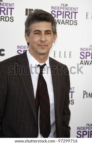 SANTA MONICA, CA - FEB 25: Alexander Payne at the 2012 Film Independent Spirit Awards on February 25, 2012 in Santa Monica, California